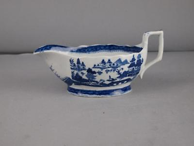 Masons Early 19Th Century Sauce Boat W/ Chinese Export Painting