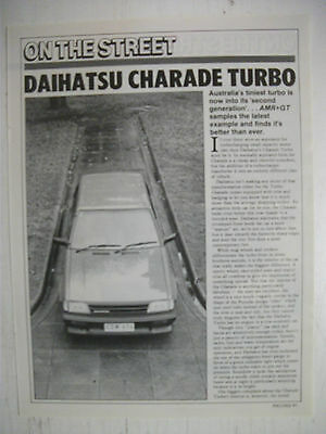 1985 Daihatsu Charade Turbo 3 Page Australian Magazine Road Test