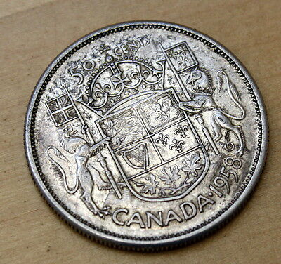 1958 Canada 50 Cents Silver