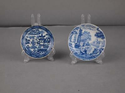 Two 19Th Century Cup Plates 1 Masons 1 Copeland