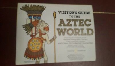 National Geographic Mag -supplement map aztec world - free post
