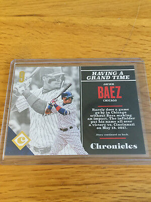 2017 Panini Chronicles Baseball MLB Gold Javier Baez Chicago Cubs #/999