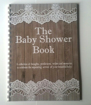 Vintage Baby Shower Book, Guest Predictions, Gifts, Memories, A4 Size