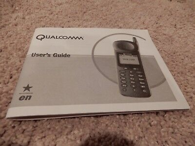 Vintage Original Qualcomm Model Qcp 860 Qcp 1960 Qcp 2760 Users Guide