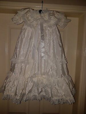6/12 months traditional christening gown unisex brand mar la bet