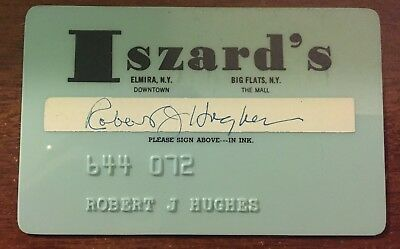 Iszard's Charge Credit Card Elmira, Ny - Defunct Department Store