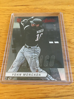 2017 Panini Absolute Baseball MLB Red Yoan Moncada Chicago White Sox #/49