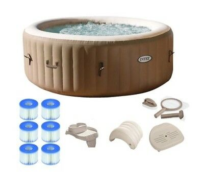 Inflatable Hot Tub Portable Spa Jacuzzi Massage Heated Pool 4 Person Intex New
