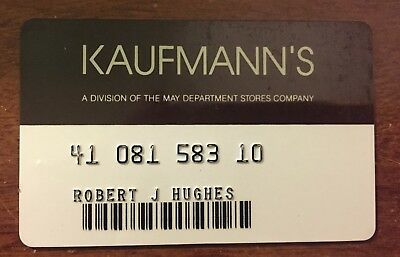 Kaufmann's Charge Credit Card Rochester, Ny - Defunct Department Store