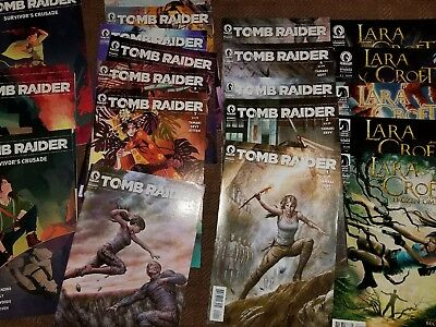 HUGE Tomb Raider comic book lot of 22