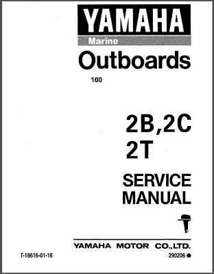 Yamaha 2HP 2-Stroke ( 2B 2C 2T 2MH ) Outboard Motors Service Manual on a CD