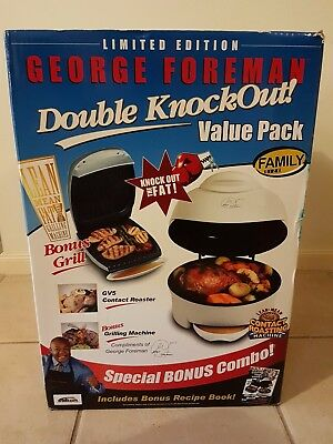 NEW George Foreman GV5 contact roaster AND bonus grill