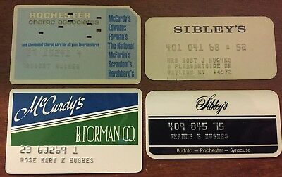 CHARGE CARD's DEFUNCT ROCHESTER, NY STORES - B. FORMAN, McCURDY'S, SIBLEY'S +
