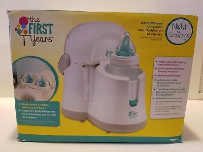 The First Years Night Cravings Bottle Warmer and Cooler Color White Gray Unisex