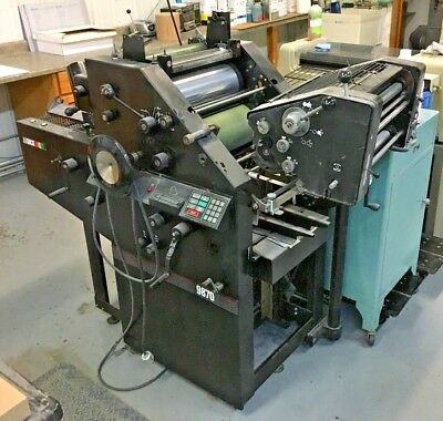 AB Dick 9870 OFFSET PRINTING PRESS 2 COLOR