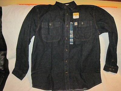 Carhartt Blue Denim Shirt Jacket Size L