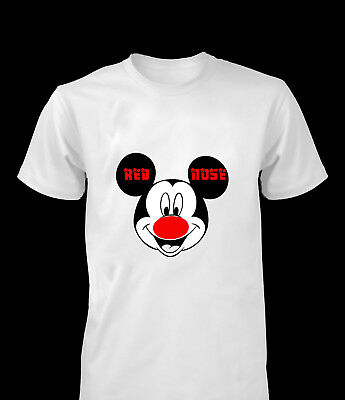 Red Nose Day Mickey Mouse Comic Relief Kids Boys Men Women T-Shirt Tee Top