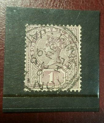 stamp - jamaica  1889  early issie fine used  - 1d -  Lot 786