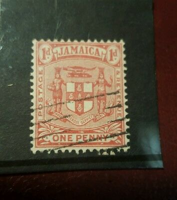 stamp - jamaica  1915  early issie fine used  - 1d -  Lot 789