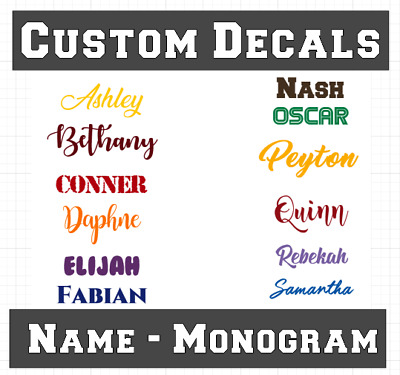 Custom Vinyl Lettering Sticker Decal Name City Text Word Window Car Wall Yeti