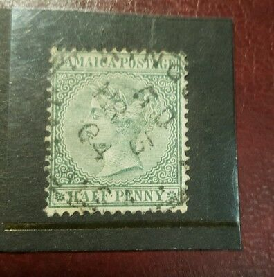 stamp - jamaica  1883 - early issue fine used  - 1/2d -   Lot 784