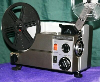PROJECTOR HEAVEN.  SANKYO 2000H  DUAL 8mm SILENT MOVIE PROJECTOR, SERVICED A1