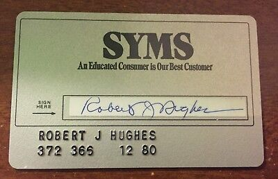Syms Charge Credit Card - Defunct Clothing Store - 1980