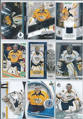 Pekka Rinne  15-Lot  Base Cards Parallels Inserts Jersey & SP's