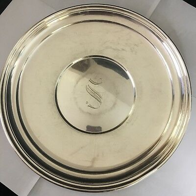 """1 Pound 12"""" CHARGER STERLING Lord SAYBROOK International SILVER Sandwich Plate"""