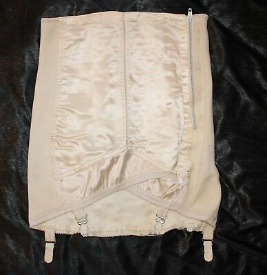Vintage Open Bottom Girdle by Lewella with front Satin Panel sz 38