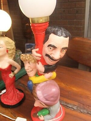 Retro Vintage Marx Brothers Lamp With Groucho Harpo & Chico