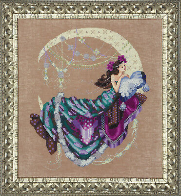 Moon Flowers - Cross Stitch - Free Postage
