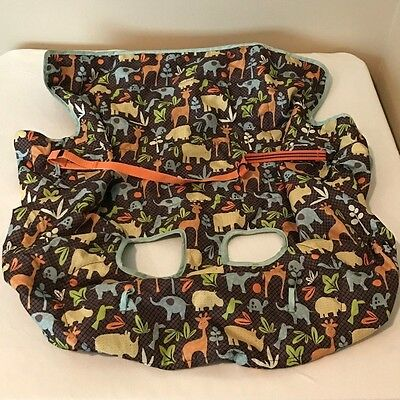 Grocery, Shopping Cart, High Chair Cover - Infantino, Brown, Animal Print