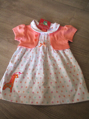 OLLIE'S PLACE - Baby Girl's Print Dress with attached jacket - NWT - Size 00