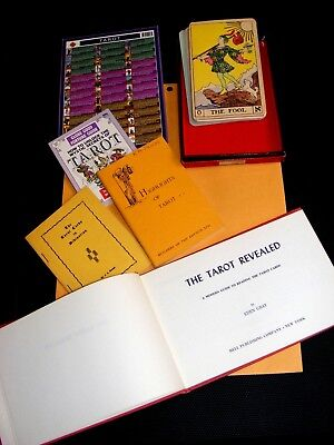 Everything Tarot Vtg 26 Cards;The Tarot Revealed Book;3 booklets;doubleside card