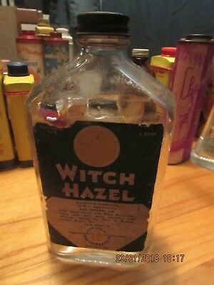 Antique 1 pint (12 oz) Witch Hazel Bottle York Pharmacal Co.