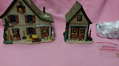 "Lemax Harvest Crossing collection "" Bluebird Acres  ""   set of 2 pcs"