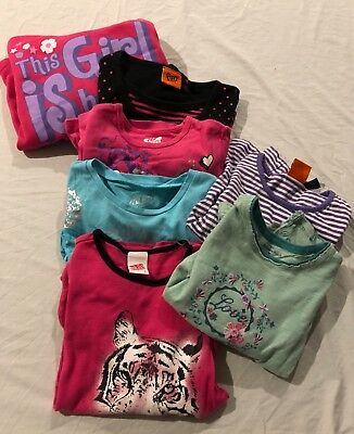 Girls Size 7 - Long Sleeve Tees - Including Pumpkin Patch