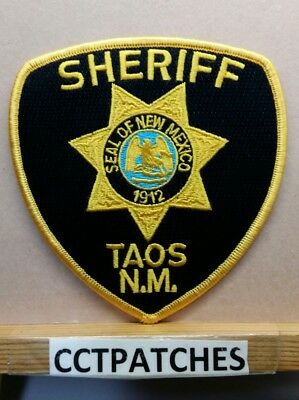 Taos County, New Mexico Sheriff (Police) Shoulder Patch Nm