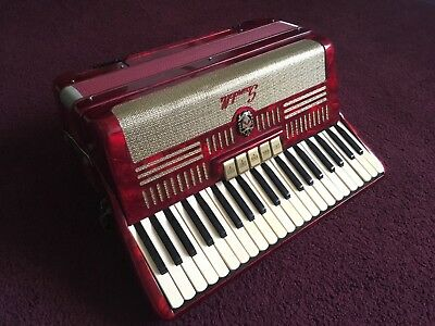 Scandalli Piano Accordion With Case - Working Condition Needs Small Fixes