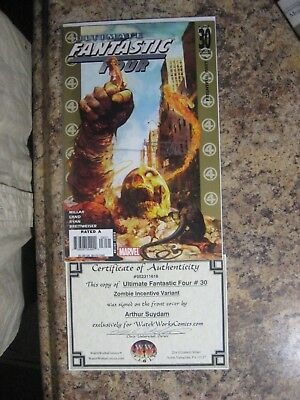 FANTASTIC FOUR  no. 30  2005  SIGNED W/COA  SIGNED COMIC AUCTION GOING ON NOW