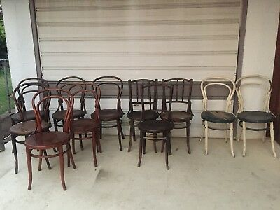 Bentwood Antique Chairs x 11