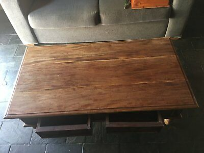 Coffee Table SOLID WOOD 2 Drawers natural wood NO DAMAGE sturdy **HURRY** cheap