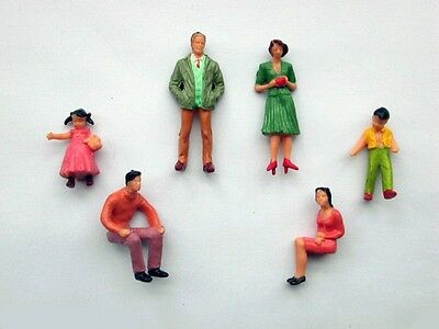 F13 - 40 Piece Figurines Standing + Sitting 1:3 2 for 1 Gauge and Carrera 132