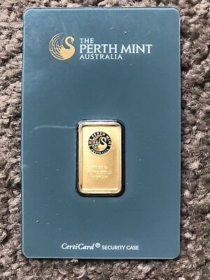 Perth Mint Kangaroo 5g 99.99% Minted Solid Gold Bar (Assay Certicard)