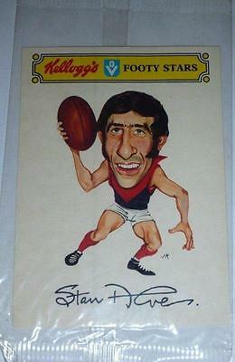 RARE VINTAGE 1973/74 VFL Melbourne Stan Alves Kelloggs Football Sticker