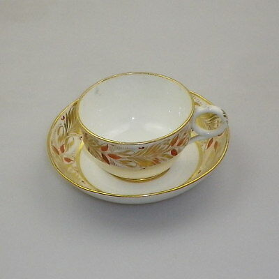 Antique English Cup and Saucer c1810