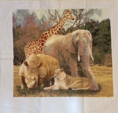 Africa completed cross stitch make an offer