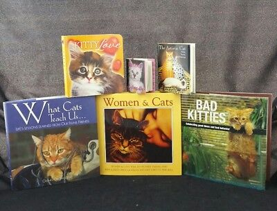 Lot of 6 Cat Books Kittens poems journals daily life