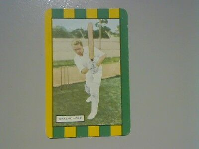 "1 Single Swap/Playing Card - Coles Named Cricket Series ""Graeme Hole"""